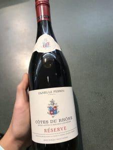 Côtes du Rhône wine bottle