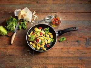 Pan with gnocchi