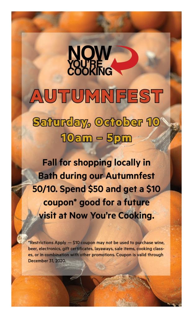 Autumnfest is Saturday, October 10, 2020