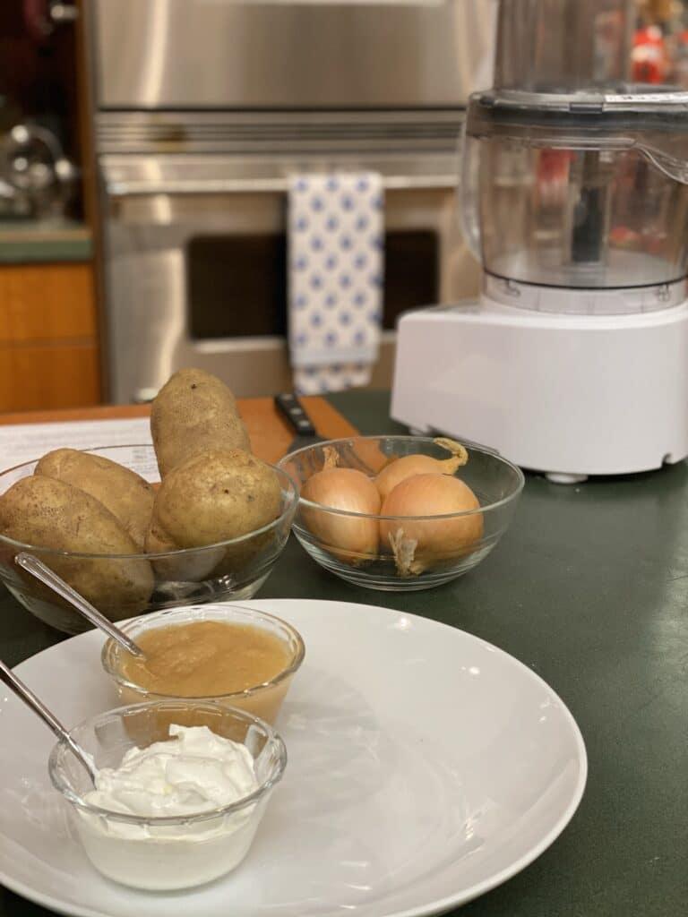 Latke Making Ingredients