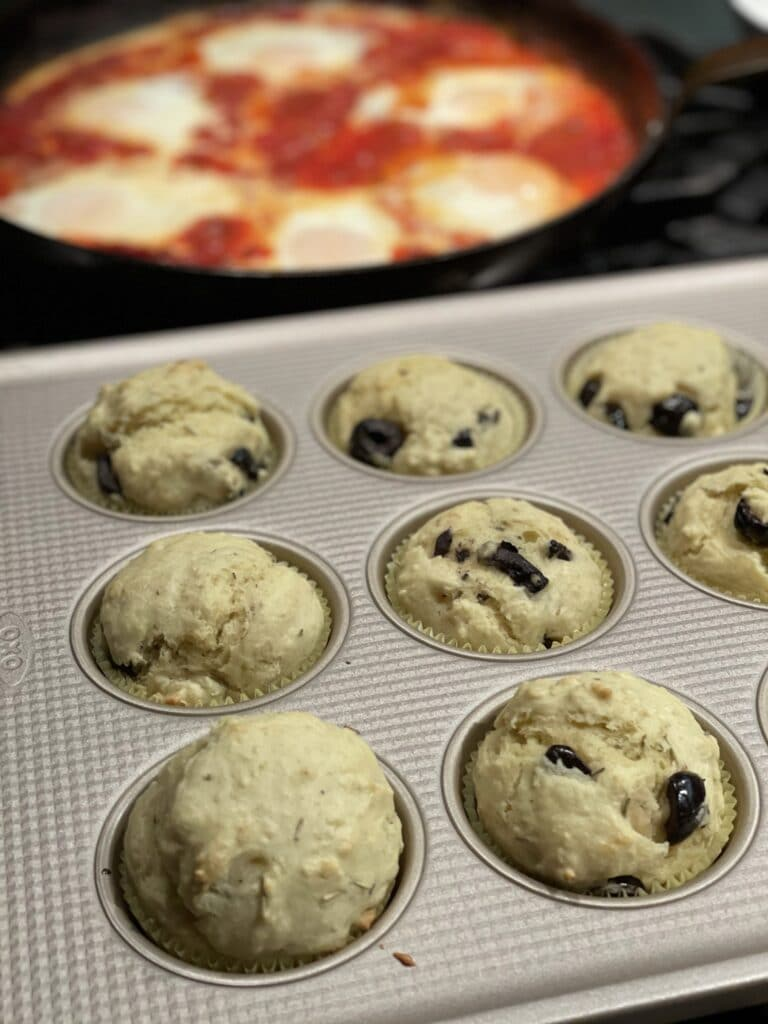 Olive and Rosemary Muffin