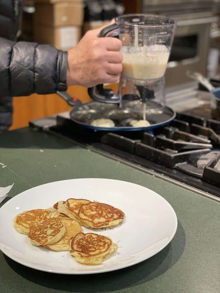Making Silver Dollar Pancakes