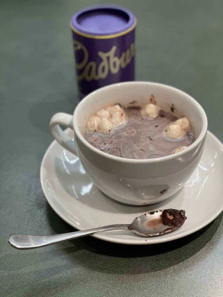 Melted Hot Chocolate Bomb