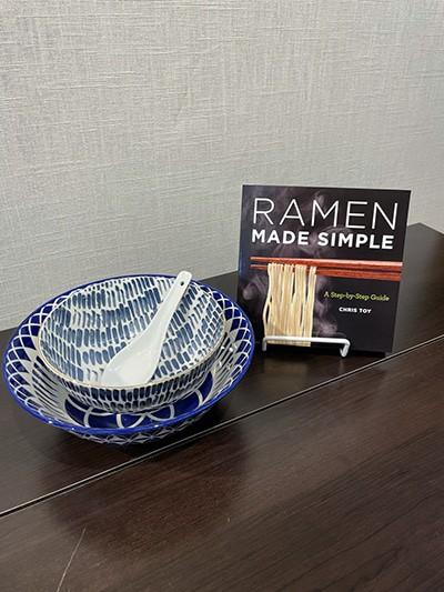 Chris Toy Ramen Cookbook and Bowls